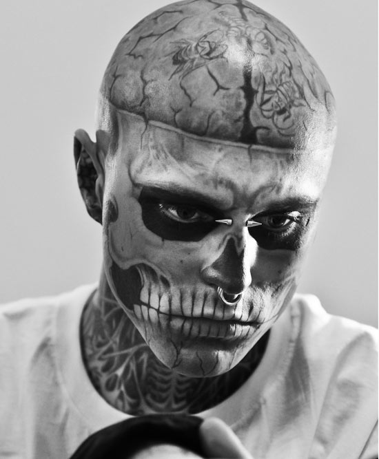 Rick Genest the Zombie tattooed man
