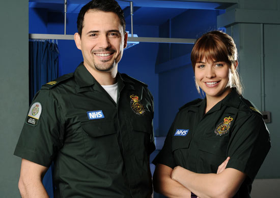 Omar (Dhafer L'Abidine) and Tamzin (Gemma Atkinson) from Casualty