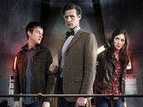 Rory Wiliams (ARTHUR DARVILL), the Doctor (MATT SMITH), Amy Pond (KAREN GILLAN)