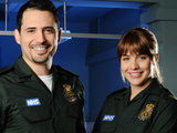 Omar (Dhafer L&#39;Abidine) and Tamzin (Gemma Atkinson) from Casualty