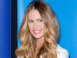 Elle Macpherson arriving at the 2011 NBC upfront presentation in New York