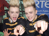 Jedward arrive back in Dublin after the Eurovision song contest