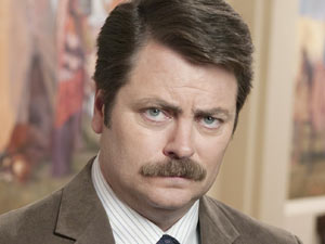 Ron Swanson (Nick Offerman) from &#39;Parks and Recreation&#39;