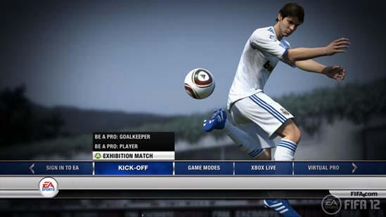 FIFA 12: Menu