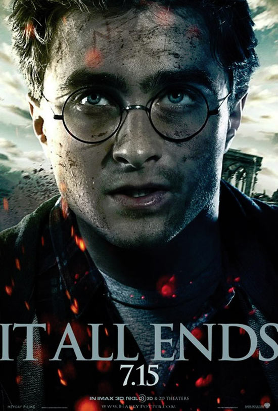 Deathly Hallows: Part 2 'It all ends' poster