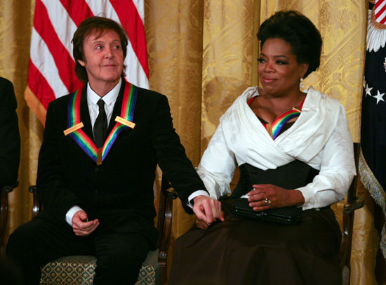 Oprah and Sir Paul McCartney