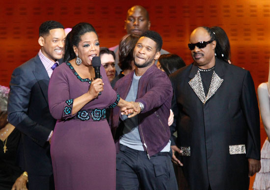 Winfrey and friends