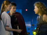 Amy, Rory and River Song in Doctor Who S06E07