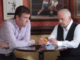 Alfie defends Eddie. As he leaves, he gives Alfie his number in case Michael ever wants to contact him.