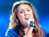 Julia Eason performing on 'The Voice'