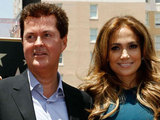 Simon Fuller and Jennifer Lopez
