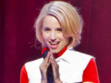 Dianna Agron performing as part of &#39;Glee Live! In Concert!&#39; in Las Vegas