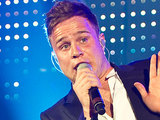 Olly Murs performing live at the Apollo in London