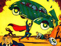 The fence surrounding Superman creator Joe Shuster's former home is damaged by a car.