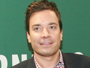 Jimmy Fallon at a book signing for his new wbook &#39;Thank You Notes&#39; at Barnes and Noble