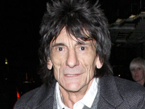 Ronnie Wood leaves Claridge's Hotel after having dinner with friends