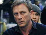 Daniel Craig filming the role of Mikael Blomkvist in The Girl With the Dragon Tattoo 