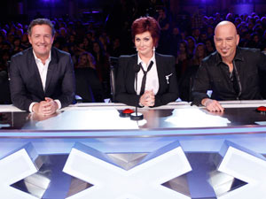 Piers Morgan, Sharon Osbourne and Howie Mandel on the America's Got Talent judging panel