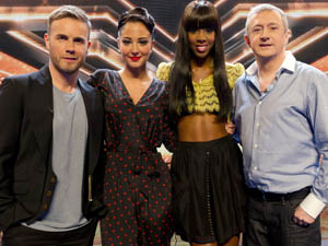 The judges at the Birmingham X Factor auditions