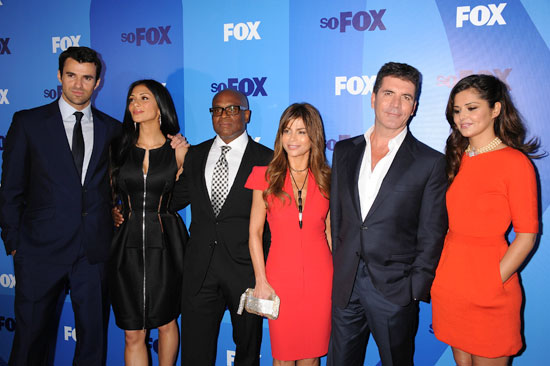 Nicole Sherzinger attends the 2011 Fox Upfront presentation