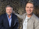Kyle Sandilands and Brian McFadden, judges from the reality TV talent show 'Australia's Got Talent'