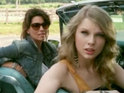 Taylor Swift and Shania Twain open the 2011 CMT Music Awards with a spoof of Thelma and Louise.