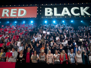 Filming of the first episode of Red or Black.