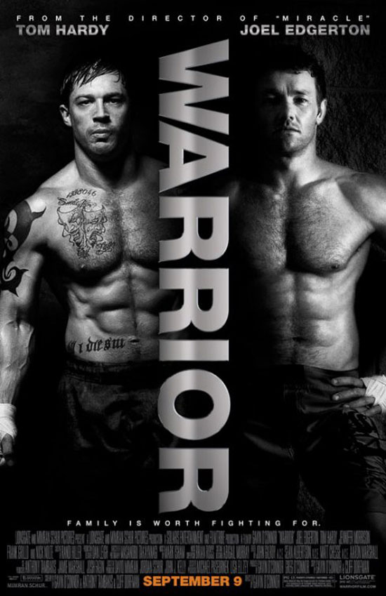 Tom Hardy and Joel Edgerton in 'Warrior' poster