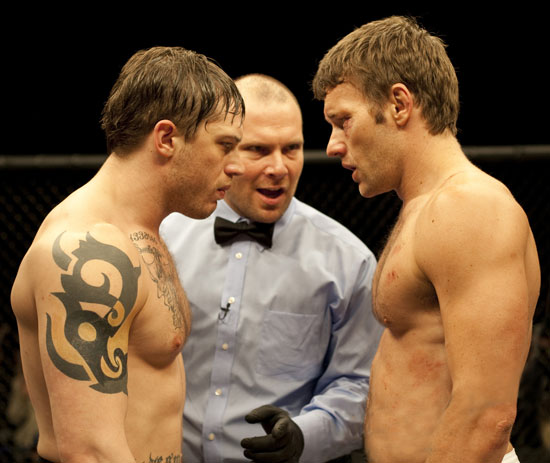 Tom Hardy and Joel Edgerton in 'Warrior'