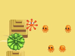 The 2D Adventures Of Rotating Octopus Character