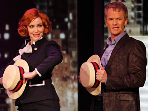Tonys 2011: Mad Men's Christina Hendricks joined Harris to perform with the cast of Company.