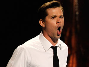 Tonys 2011: Andrew Rannells performs with the cast of The Book of Mormon.