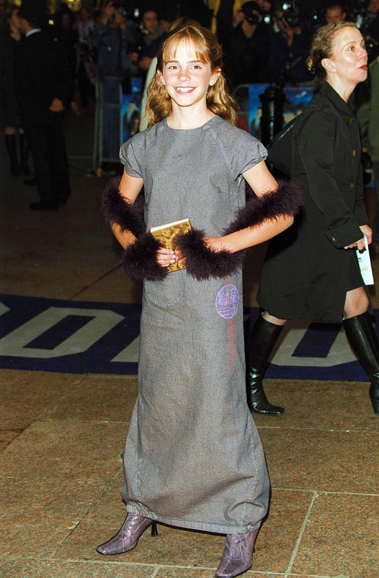 Emma Watson at 'Philosopher's Stone' premiere