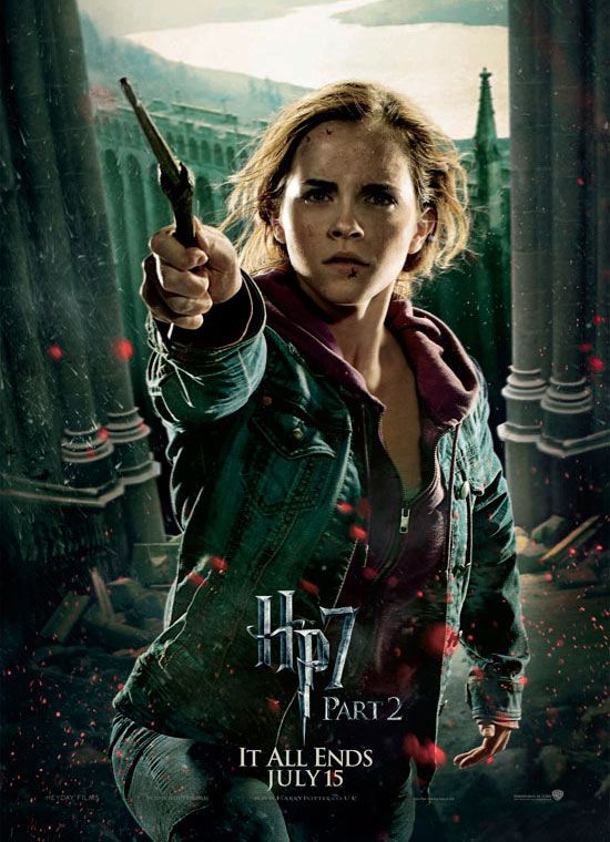 Hermione poster for 'Deathly Hallows Part II'