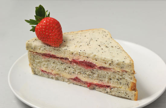 Strawberry and cream sandwich