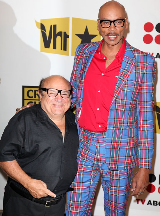 Danny DeVito and RuPaul Andre Charles