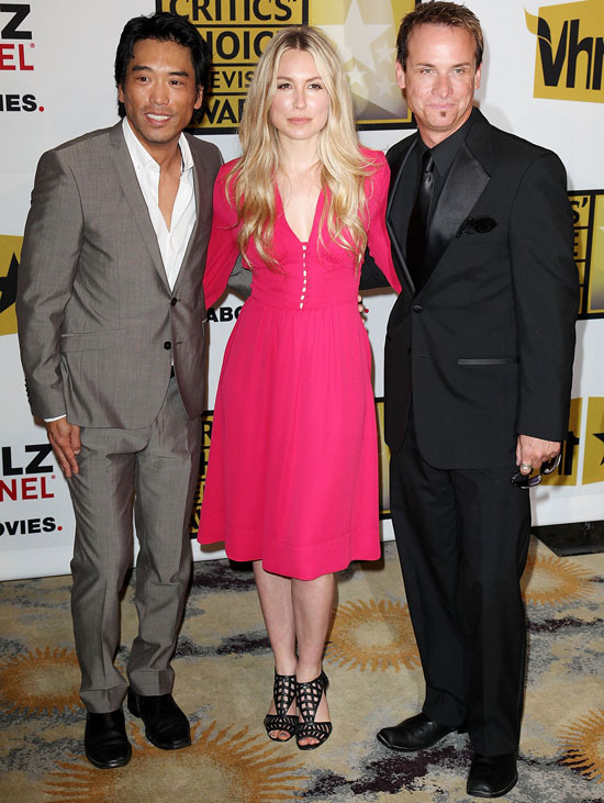 Peter Shinkoda, Sarah Carter and Colin Cunningham