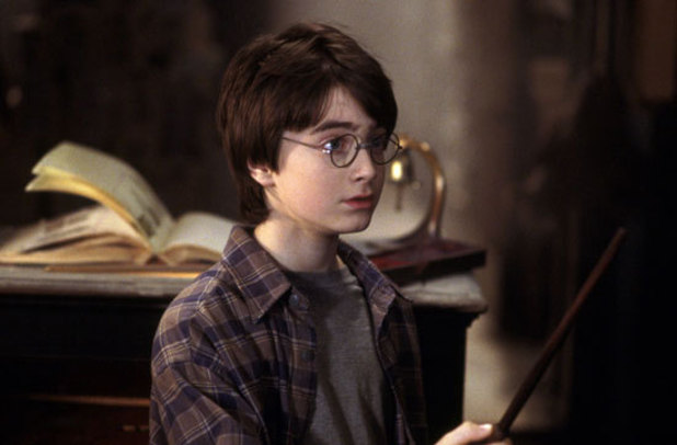 Daniel Radcliife makes his debut as the boy wizard in Harry Potter and the Philosopher's Stone (2001)