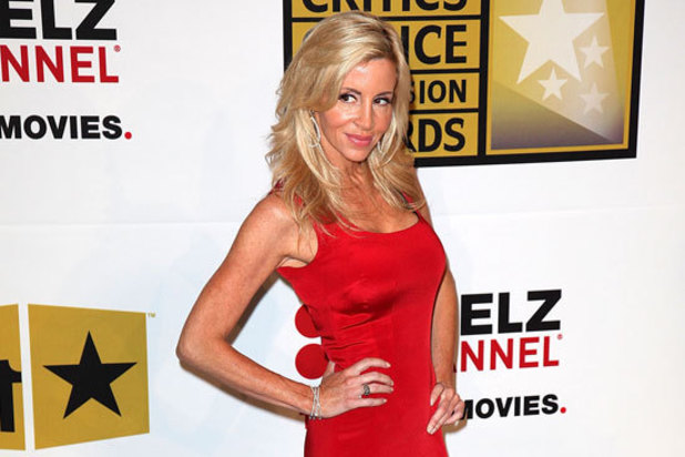 Camille Grammer arriving at the Critics' Choice TV Awards