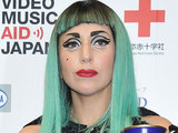 Lady Gaga attends an MTV Video Music Aid Japan Press Conference