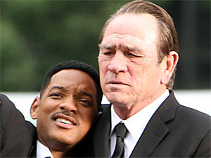 Will Smith and Tommy Lee Jones are spotted shooting on location in New York City for the third instalment of the 'Men In Black' franchise