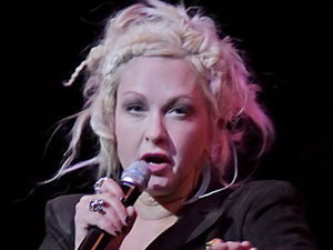 Cyndi Lauper performing at Manchester Bridgewater Hall
