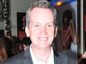 Frank Skinner arriving at the opening show of 'Meow Meow - In Concert'