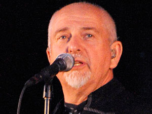 Peter Gabriel performs on stage in Toronto, Canada