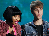Nicki Minaj and Justin Bieber presenting the BET Awards