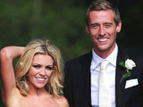 Abbey Clancy and Peter Crouch after their wedding