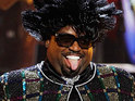 Cee Lo Green pays tribute to Patti LaBelle in costume at the BET Awards 2011 in Los Angeles.
