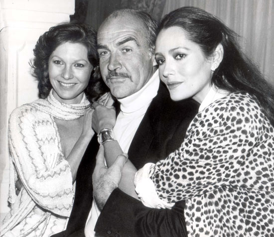 Pamela Salem, Sean Connery and Barbara Carrera