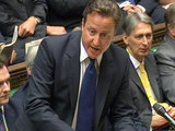 David Cameron at Prime Minister&#39;s Questions