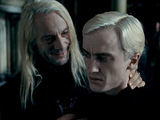 Lucius and Draco Malfoy in 'Harry Potter And The Deathly Hallows Part 1'